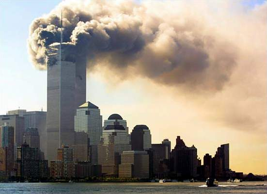 The world trade center under attack